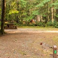 All sites have a pit toilet nearby.- Porpoise Bay Provincial Park Campground