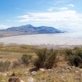 The shore of the Great Salt Lake.- Antelope Island State Park