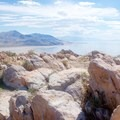 Eastern view of the Great Salt Lake.- Antelope Island State Park