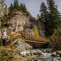 After you cross this bridge you've almost reached the hot springs.- Keyhole Hot Springs / Pebble Creek Hot Springs