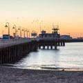 The Santa Cruz Wharf from Cowell Beach- Cowell Beach