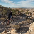 Riding Andy's Trail in the Lunch Loops.- Lunch Loops Mountain Bike Trails: Andy's Trail