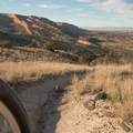Great views of Grand Junction from the end of Andy's Trail.- Lunch Loops Mountain Bike Trails: Andy's Trail