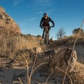 Riders buzz through the sun-baked landscape.- Lunch Loops Mountain Bike Trails: Andy's Trail