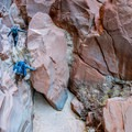 Some boulder scrambling may be required in places, but always look for other ways around.- Buckskin Gulch Hike