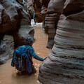 Pools can be anywhere from ankle to neck deep, and they are always cold.- Buckskin Gulch Hike