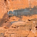 Petroglyphs high on the wall at Middle Pass are the most vivid ones in Buckskin.- Buckskin Gulch Hike