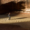 Hiking Paria Canyon requires crossing the shallow river over and over.- Buckskin Gulch Hike