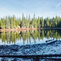 Lava Camp Lake.- Lava Camp Lake Campground