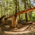 The double teeter-totter on A River Runs Through It- Westside Mountain Bike Trails: A River Runs Through It