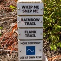Follow signs for Whip Me Snip Me.- Westside Mountain Bike Trails: A River Runs Through It