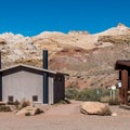 Trailhead entrance and kiosk.- Little Wildhorse Canyon Hike