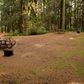 There are a couple of double sites.- Roberts Creek Provincial Campground