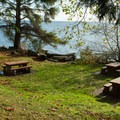 The park is a great place for a picnic next to the sea.- Roberts Creek Provincial Campground