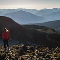 Hiking along the top of Panorama Ridge.- Panorama Ridge Hike