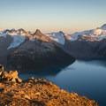Basking in the alpenglow on top of Panorama Ridge.- Panorama Ridge Hike