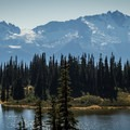 Mimulus Lake and the Tantalus Range.- Panorama Ridge Hike