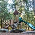 The playground at Alice Lake.- Alice Lake Campground