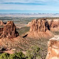 From the Grand View overlook.- Colorado National Monument