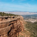 Looking down Columbus Canyon at the Grand Valley below.- Colorado National Monument