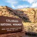 Entering Colorado National Monument.- Colorado National Monument