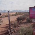 Beginning of the Bar B Loop.- MOAB Brand Mountain Bike Trails: Bar B