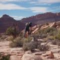 Riding Bar B in the MOAB Brand Mountain Bike Trails.- MOAB Brand Mountain Bike Trails: Bar B