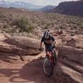 At the top of the hill.- MOAB Brand Mountain Bike Trails: Bar B