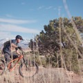 Riding the Bar M Trail in the MOAB Brand Mountain Bike Trails.- MOAB Brand Mountain Bike Trails: Bar M