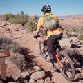 Pulling onto the upper trailhead for Captain Ahab.- Amasa Back Mountain Bike Trails: Captain Ahab