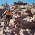 Rock garden descents.- Amasa Back Mountain Bike Trails: Captain Ahab