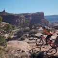 More open views along the Captain Ahab Trail.- Amasa Back Mountain Bike Trails: Captain Ahab