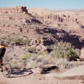 Riding the Captain Ahab Trail outside of Moab.- Amasa Back Mountain Bike Trails: Captain Ahab