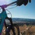 Great views of the Sangre de Cristo Mountains.- Oil Well Flats Mountain Bike Trail
