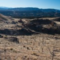 The view of the trails below.- Oil Well Flats Mountain Bike Trail