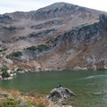 Cecret Lake and Sugarloaf Peak (11,051 ft).- Devil's Castle Traverse