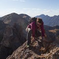 Gaining the knife-edge between the first and second summits.  - Devil's Castle Traverse