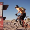 Circle O Trailhead marker.- MOAB Brand Mountain Bike Trails: Circle O