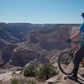 Stopping to enjoy the view.- Good Water Rim Mountain Bike Trail