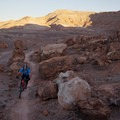 More rock piles along Jurassic.- Klondike Bluffs Mountain Bike Trails: Jurassic to Dino Flow