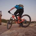 Turning onto Dino Flow.- Klondike Bluffs Mountain Bike Trails: Jurassic to Dino Flow