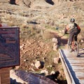 Pipe Dream Trailhead and bridge.- Pipe Dream Mountain Bike Trail