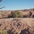 Second Slickrock practice loop junction.- Slickrock Mountain Bike Trail