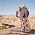 Riding the Slickrock Trail.- Slickrock Mountain Bike Trail