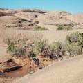 Steep descents.- Slickrock Mountain Bike Trail