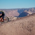 Abyss Canyon opens up beyond the Slickrock Trail.- Slickrock Mountain Bike Trail