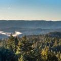 Santa Cruz Mountains seen from the Skyline-to-the-Sea Trail.- Skyline-to-the-Sea Hike: Saratoga Gap to Big Basin Headquarters