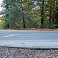 One of many road crossings.- Skyline to the Sea Trail: Saratoga Gap to Big Basin Headquarters