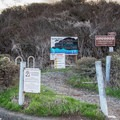 The beach access trail from the parking area.- Bonny Doon Beach