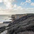 The view from the access trail to Bonny Doon Beach.- Bonny Doon Beach
